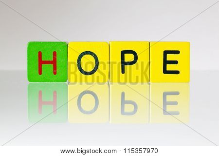 Hope - An Inscription From Children's Blocks