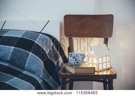 bedroom interior closeup