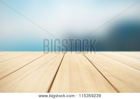 Abstract background with wooden planks outdoors