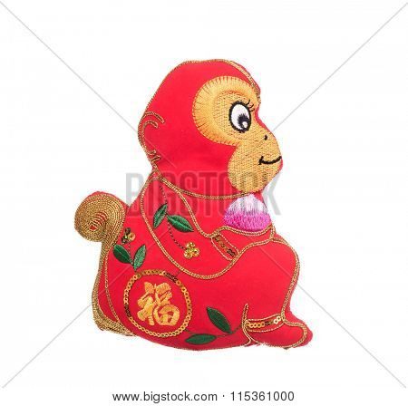 2016 is year of the monkey,chinese traditional knot,Chinese calligraphy fu Translation: good bless for new year