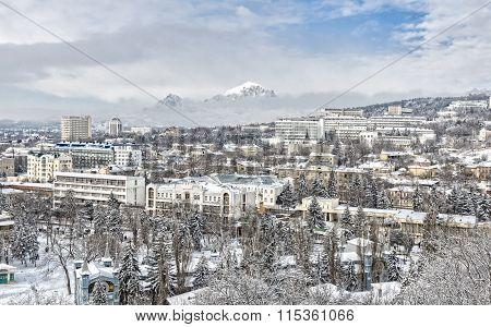 Wintry Snowbound City.