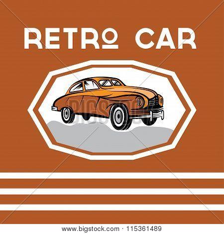 Retro Car Old Vintage Poster