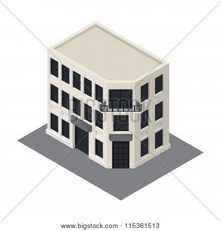 Vector isometric building icon