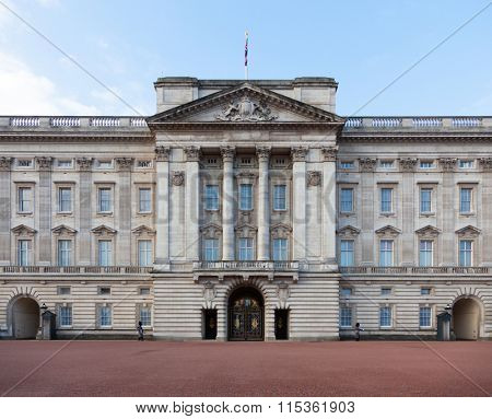LONDON, UNITED KINGDOM - JANUARY, 2016: Buckingham Palace in Central London