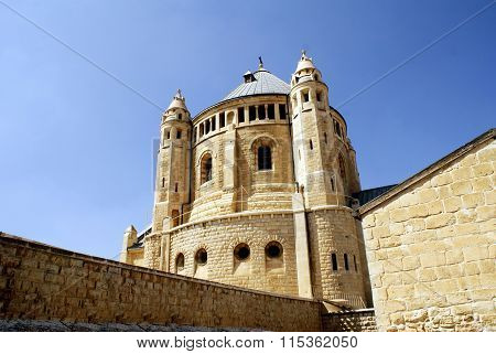 The Christian church, landmark in Jerusalem, Israel photo taken in summer