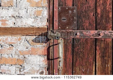 Old Door With Two Locks