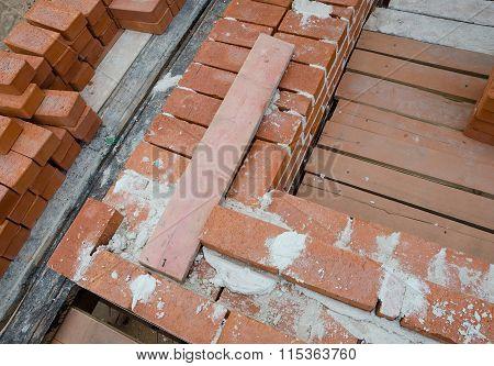 Mason bricklaying background