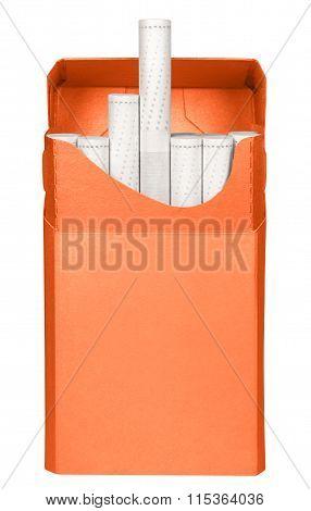 Cigarettes Box - Opened-orange