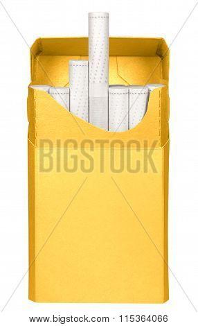 Cigarettes Box - Opened-yellow