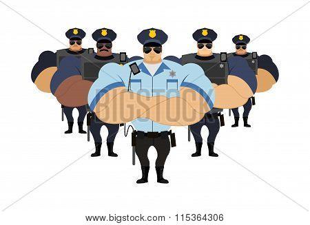Police Officers Came To Arrest Criminals.