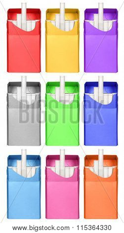 Cigarettes Box - Opened-colorful
