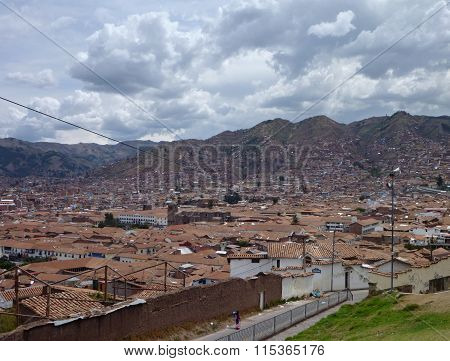 An Aerial View Of Cusco