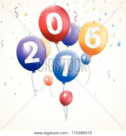 Happy new year background with balloon