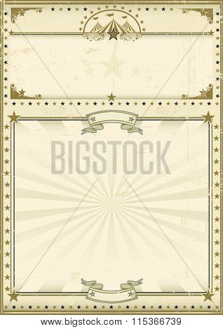 Circus poster brown vintage. A circus vintage poster for your advertising. Enjoy