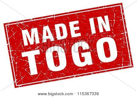 Togo red square grunge made in stamp