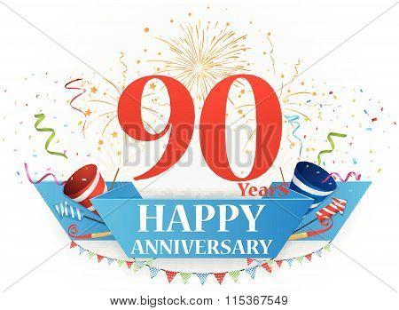 Happy anniversary celebration design