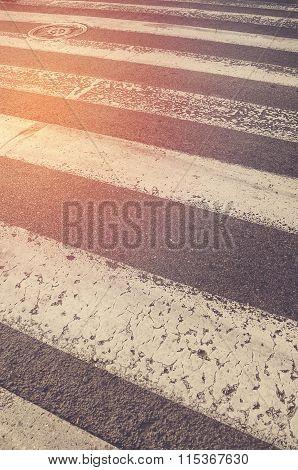 Crosswalk. Traffic Walk Way Background.