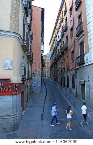 Madrid, Spain - August 23, 2012: Mayor Street In Madrid