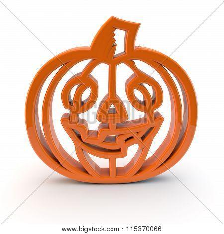 Halloween Pumpkin Symbol 3D