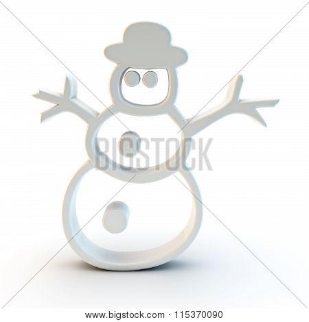 3D Snowman Symbol