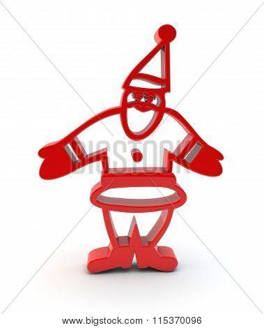 3D Santa Claus Symbol