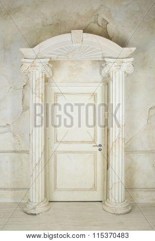 Columns And Closed Door