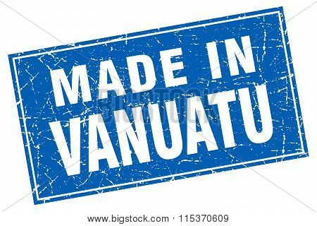 Vanuatu blue square grunge made in stamp