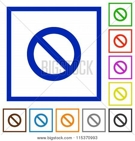 Blocked Framed Flat Icons