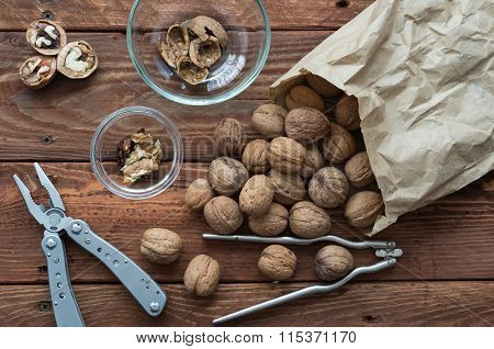 Walnuts On The Table