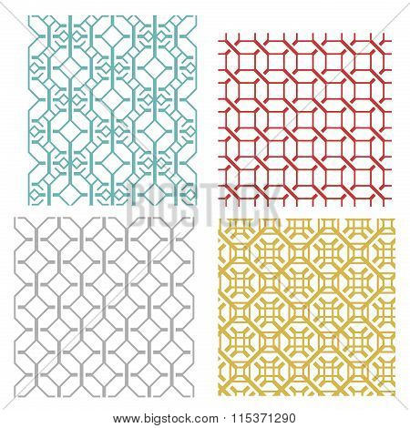 Geometric Seamless Weave Line Pattern