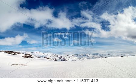 Nordic Snowy Mountain View