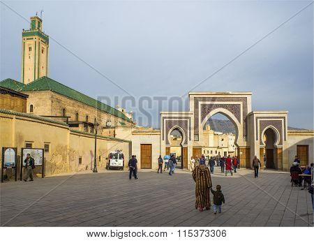 Bab Rcif Gate. Fez El Bali Medina. Fez, Morocco. Africa.