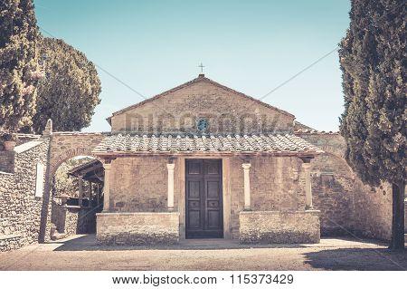 San Niccolo Church In Cortona, Italy