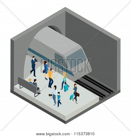 Underground People Illustration