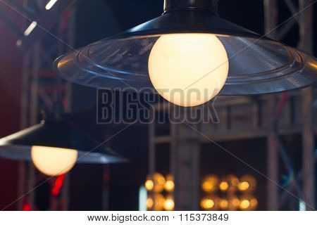 Lamp With Dirty Lampshade