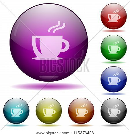 Coffee Glass Sphere Buttons