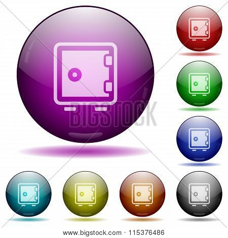 Strong Box Glass Sphere Buttons