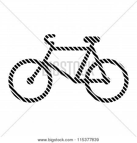 Bike Sign On White.