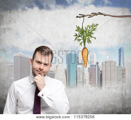 Man Thinking About Reward