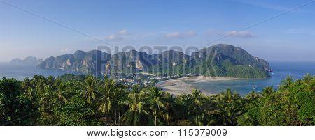 Panorama Of Phi-phi Island, Krabi Province, Thailand, Asia