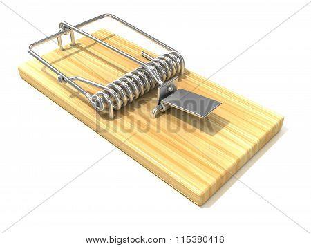 Mousetrap 3D render