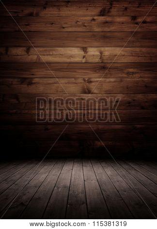 dark wooden interior room.