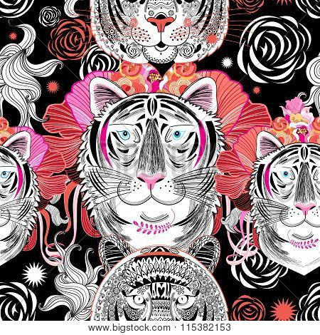 Graphic Pattern Tigers