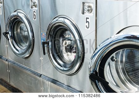 Laundry of Machines in the store
