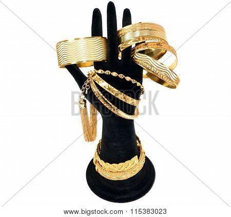 Bracelets  on a mannequin