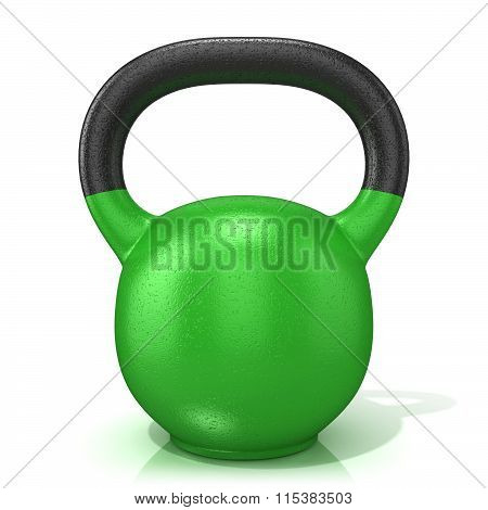 Green kettle bell weight