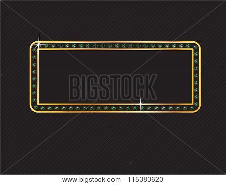 Emerald And Gold Frame On Black