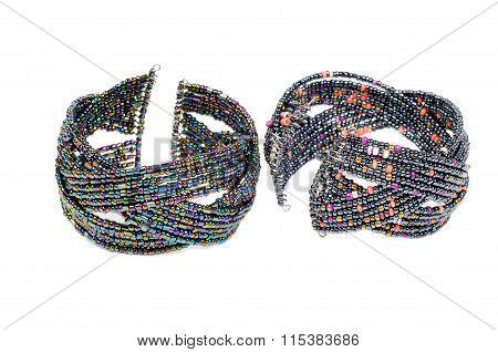 Bracelets over white