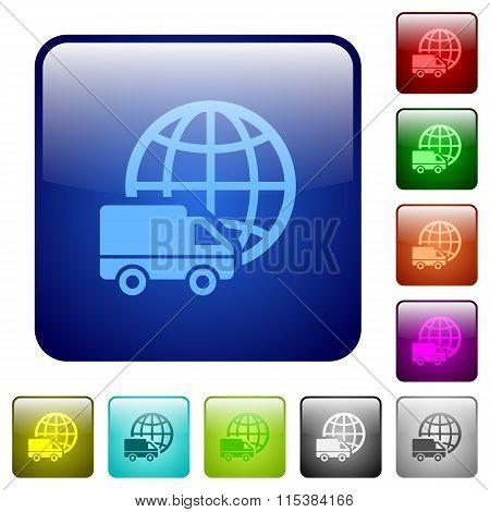 Color International Transport Square Buttons