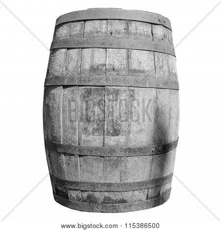 Black And White Wooden Barrel Cask